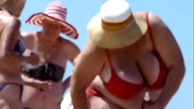 Russian BBW Mature Big Boobs on beach  Amateur  More on: 18CAMS.CO