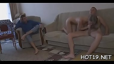 Russian girl sucks big dick previous to getting it in her wet crack