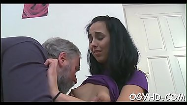 Brave young angel screwed by old rod