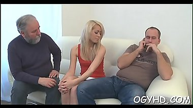 Cute young angel fucked by old lad