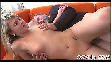 Hot young hottie screwed by old guy